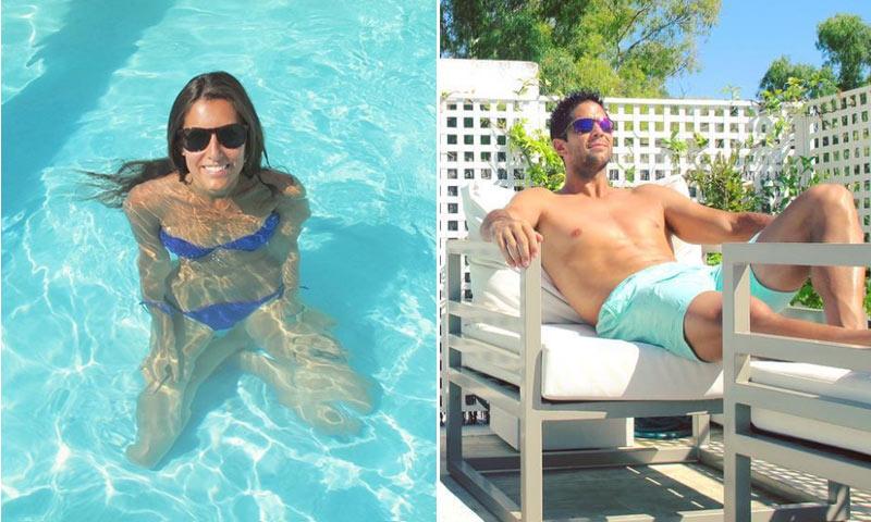 Ana Boyer y Fernando Verdasco hacen frente al calor presumiendo de cuerpazos en su piscina