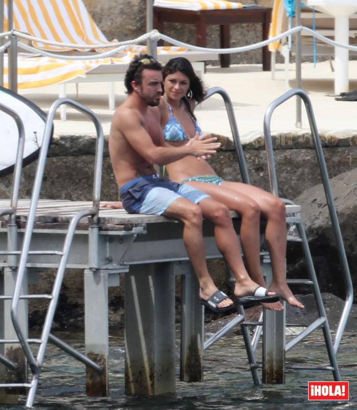 Fernando Alonso y Linda Morselli en Italia