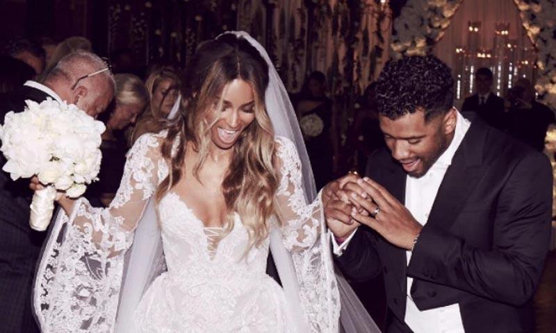 La fabulosa boda de la cantante Ciara y Russell Wilson en un castillo