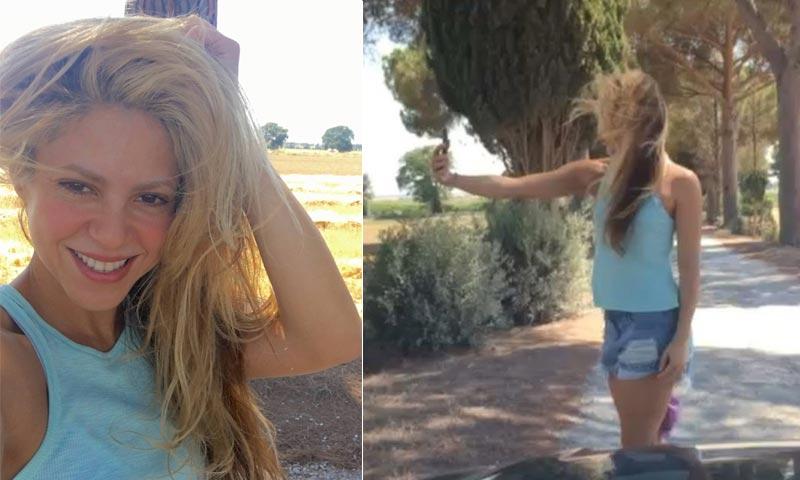 Gerard Piqué se 'ríe' de los intentos de Shakira para hacerse un selfie ¡No os lo perdáis!