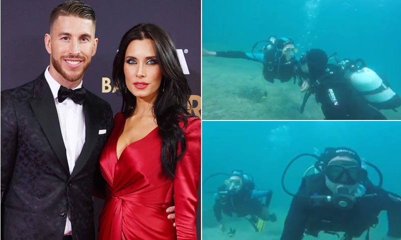 La divertida aventura bajo el mar de Pilar Rubio y Sergio Ramos