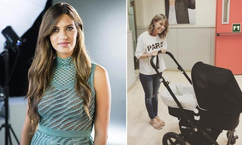 Sara Carbonero se lleva a su hijo al trabajo a punto de estrenarse su programa