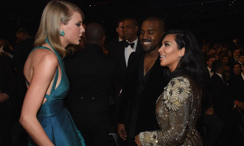 Taylor Swift estalla contra Kim Kardashian y Kanye West