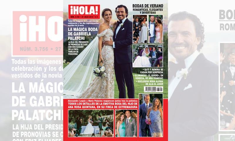 En ¡HOLA!, todas las imágenes y detalles de la mágica boda de Gabriela Palatchi