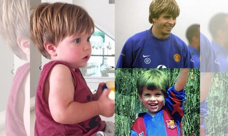 ¡Idéntico a papá! El impresionante parecido de Gerard Piqué y su hijo Sasha