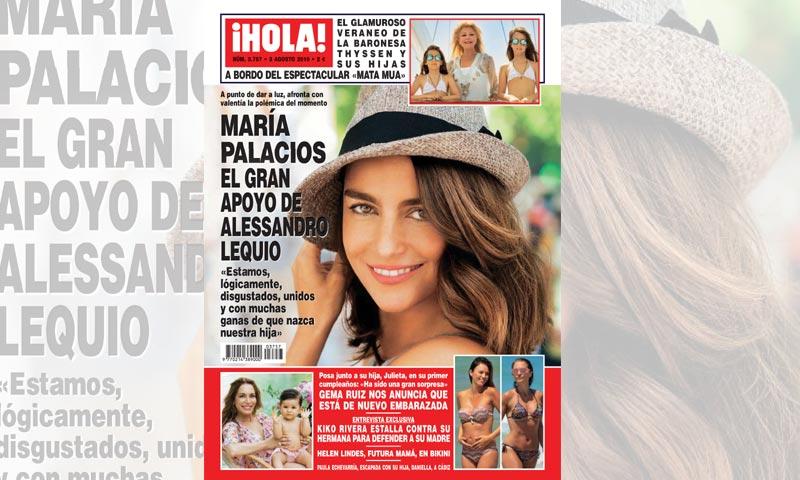 María Palacios, el gran apoyo de Alessandro Lequio: 'Estamos, lógicamente, disgustados, unidos y con muchas ganas de que nazca nuestra hija'