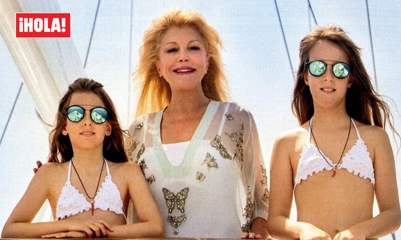 En ¡HOLA!, el glamuroso verano de la Baronesa Thyssen y sus hijas a bordo del espectacular 'Mata Mua'