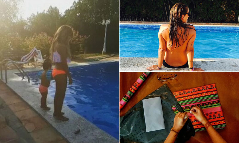 Isabel Pantoja celebra su cumpleaños en la piscina de Cantora