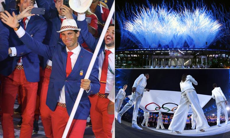 La emoción de Rafa Nadal, la elegancia de Gisele Bündchen... arranca Río 2016