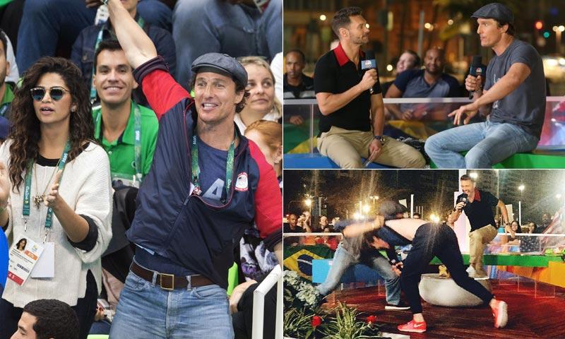 Matthew Mcconaughey, en Río 2016: De 'marido de' a estrella 'olímpica'