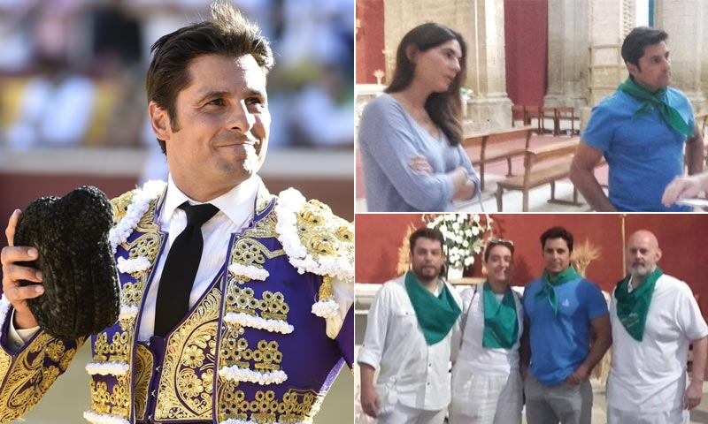 Un año después de su grave cornada, Francisco Rivera vuelve a Huesca junto a Lourdes Montes