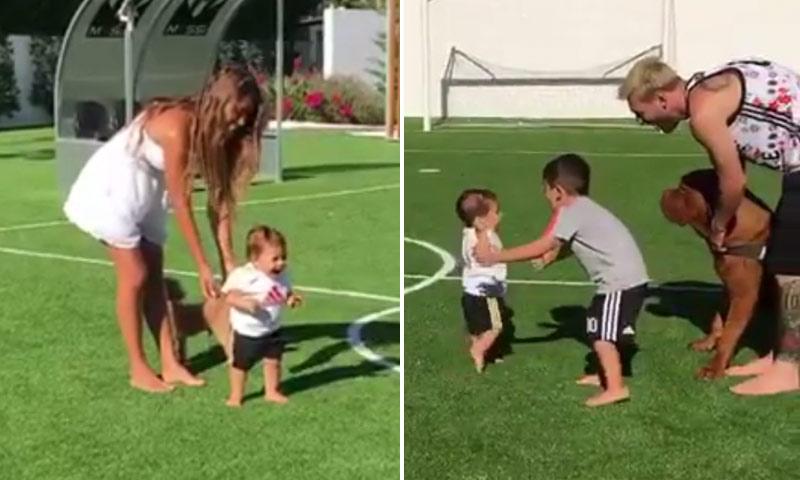 Leo Messi comparte los primeros pasos de su hijo, Mateo, y no puede ser más adorable