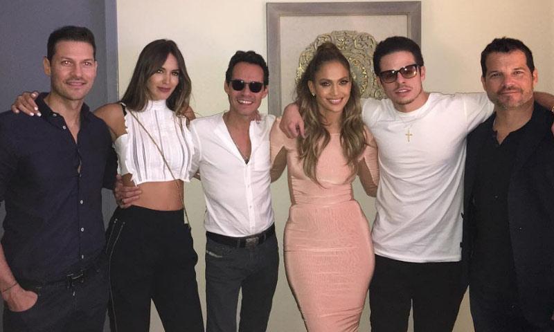 Jennifer López y Marc Anthony, el 'buen rollo' de dos ex... y sus respectivas parejas