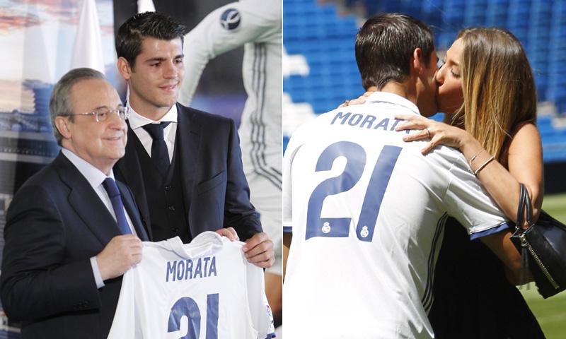 ¡Lágrimas y mucho amor! Así ha sido la presentación de Álvaro Morata como jugador del Real Madrid