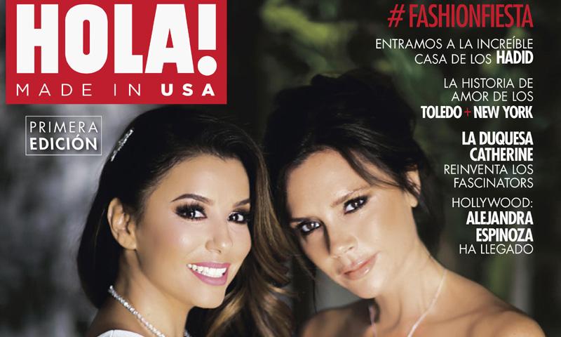 Eva Longoria y su gran amiga Victoria Beckham posan en exclusiva mundial para la primera edición impresa de HOLA! USA
