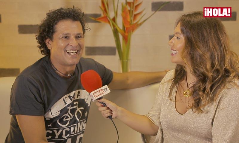 Carlos Vives cuenta a ¡HOLA! TV cómo él y Shakira han creado el 'efecto bicicleta'