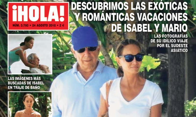En ¡HOLA!: Las imágenes más buscadas de Isabel Preysler y Mario Vargas Llosa en sus vacaciones