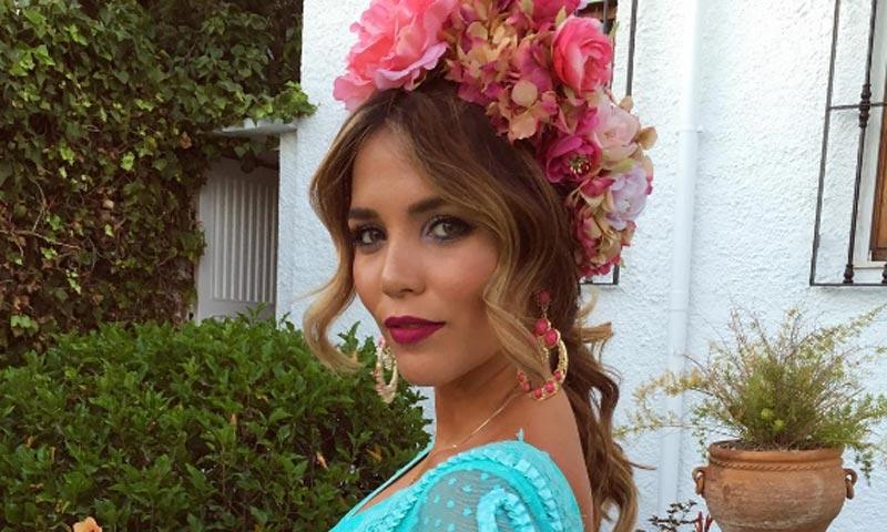 Rosanna Zanetti, novia de David Bisbal, una gitana en la feria de Almería