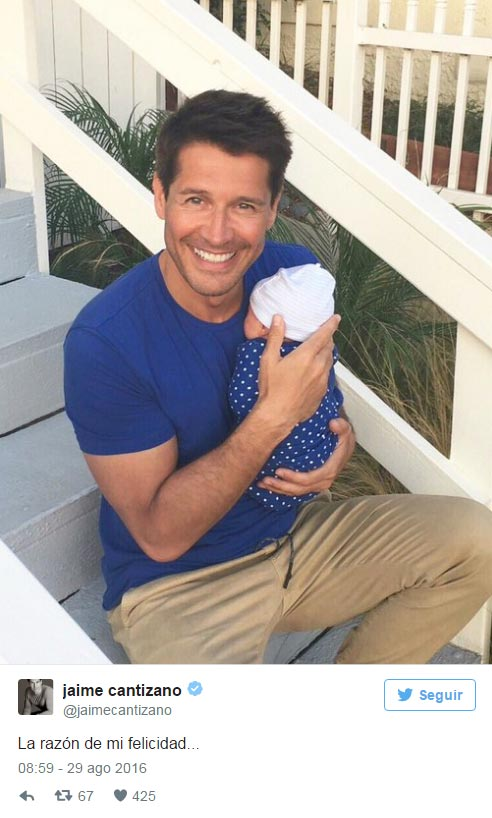 ¡Jaime Cantizano ya es padre! ¿Quieres ver la primera imagen de su hijo Leo?