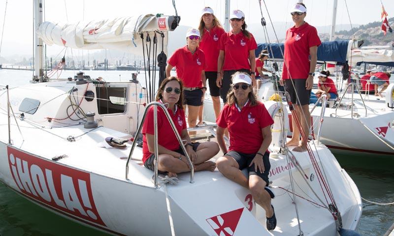 Arranca la regata ¡HOLA! Ladies Cup, en el marco de la 31º edición del Trofeo Príncipe de Asturias al que acude el rey Juan Carlos