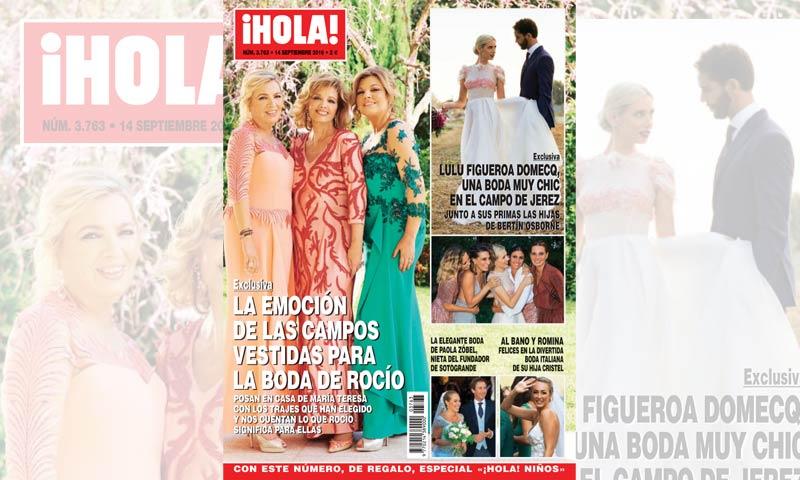 Exclusiva en ¡HOLA!, la emoción de las Campos vestidas para la boda de Rocío Carrasco