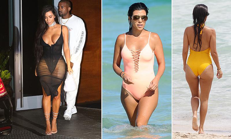 Kim y Kourtney Kardashian, o cómo acaparar la atención por motivos muy distintos