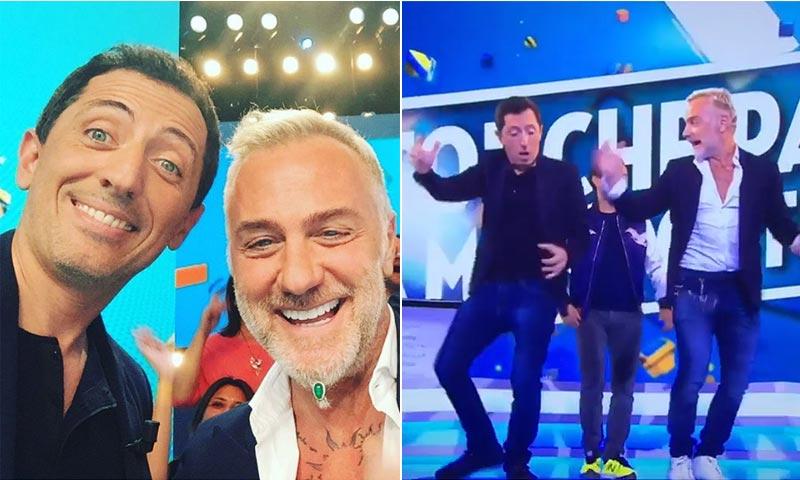Gianluca Vacchi pone a bailar a Gad Elmaleh, el 'ex' de Carlota Casiraghi