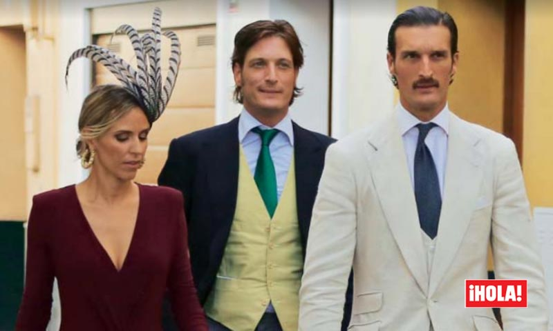 Los Duques de Feria, 'glamour' y estilo 'Gran Gatsby' en la boda de su primo, Javier Abascal