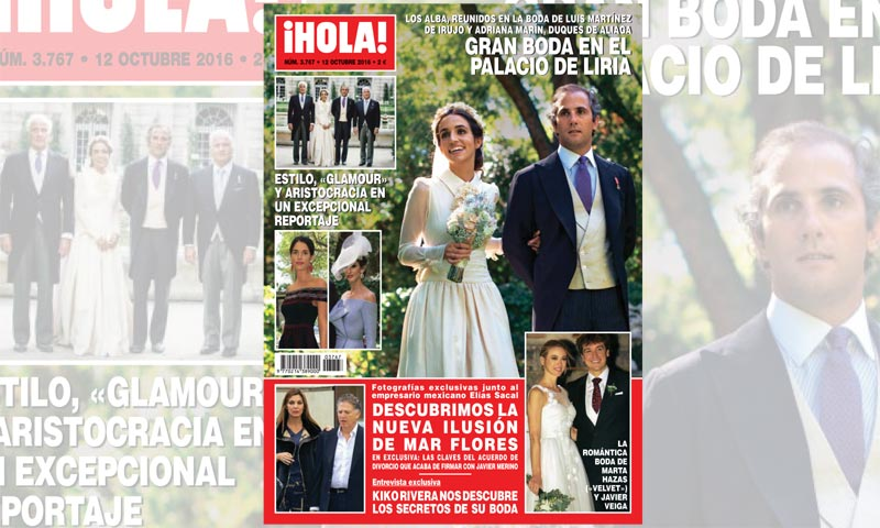 En ¡HOLA!, los Alba se reúnen en la gran boda de Luis Martínez de Irujo y Adriana Marín en el Palacio de Liria