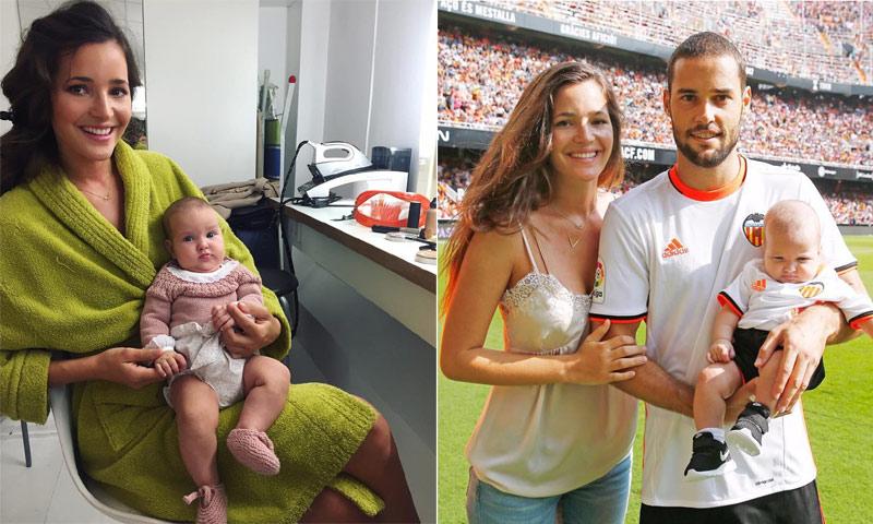 ¡Entre el césped y la pasarela! La hija de Malena Costa y Mario Suárez es una 'working baby'