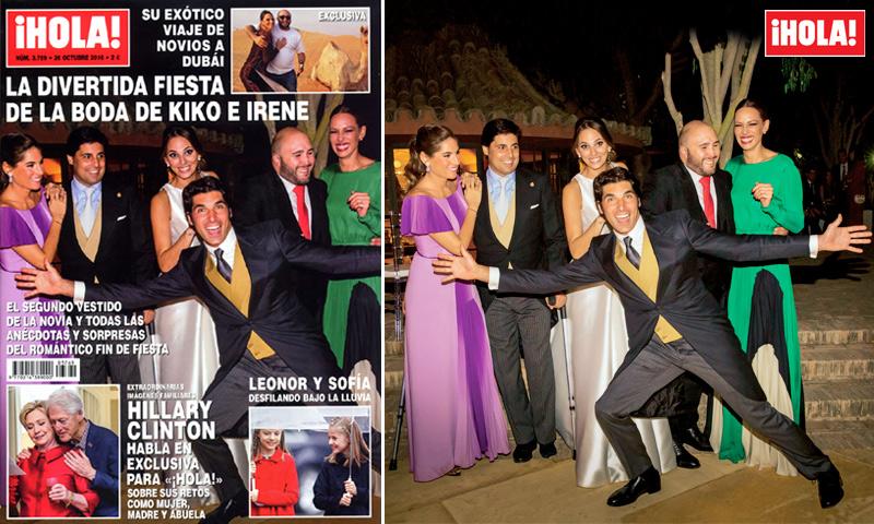 En ¡HOLA!, la divertida fiesta de la boda de Kiko Rivera e Irene Rosales