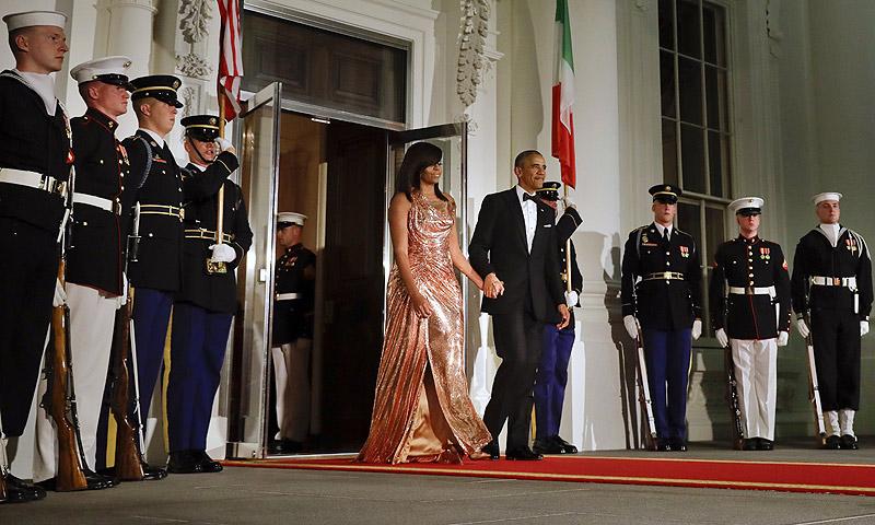 FOTOGALERÍA: Michelle Obama deslumbra en su última cena de gala en la Casa Blanca