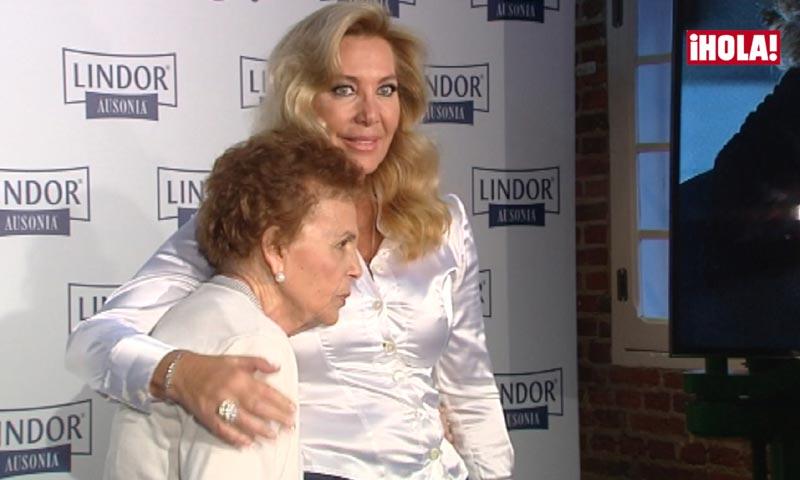 La emotiva aparición pública de Norma Duval con su madre, enferma de Alzheimer
