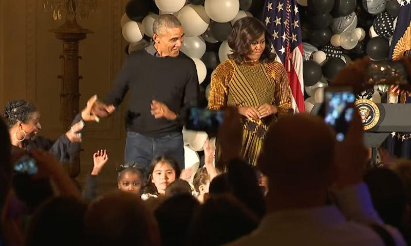 No te pierdas el baile de Barack y Michelle Obama al ritmo de 'Thriller' de Michael Jackson
