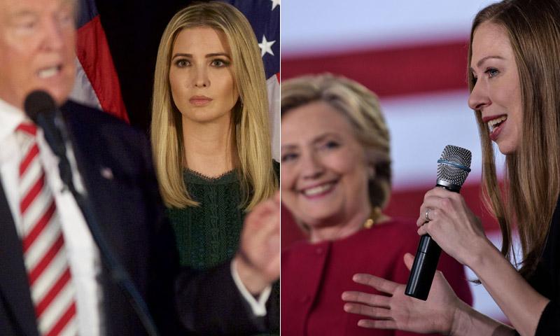 Los hijos de Trump y la hija de Clinton, así viven la cuenta atrás ante el combate final