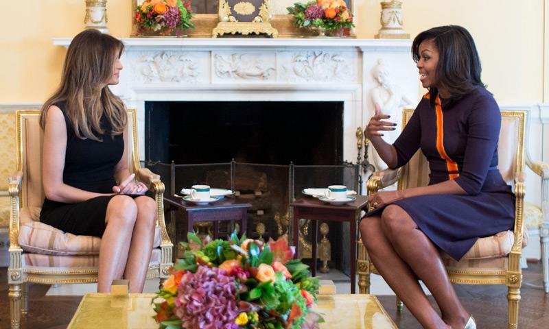 Michelle Obama abre las puertas de la Casa Blanca a Melania Trump, futura Primera Dama