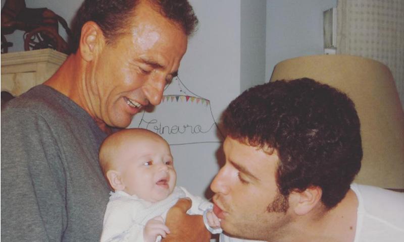 La imagen más tierna de Alessandro Lequio con sus hijos Ginevra y Álex