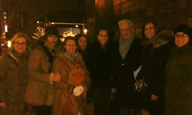 El encuentro neoyorkino de Isabel Preysler y Mario Vargas Llosa con Mariló Montero