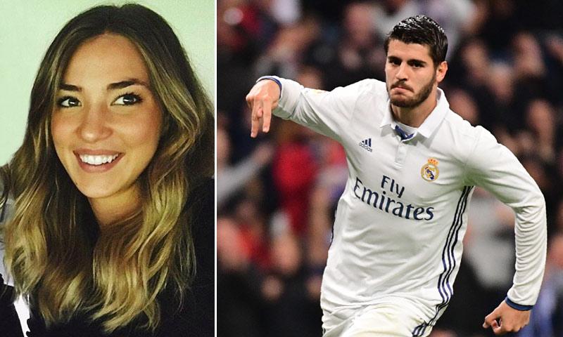 El cariñoso gesto de Álvaro Morata con su prometida en el Bernabéu