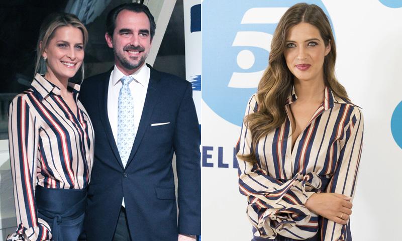 Sara Carbonero y Tatiana de Grecia, 'unidas' por unos volantes