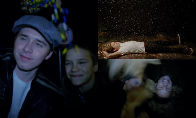 ¡Peleas de hojas y mucha purpurina! No te pierdas el tierno videoclip de Cruz Beckham con sus hermanos