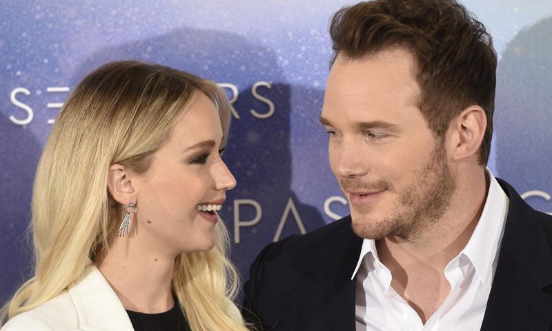 La complicidad galáctica de Jennifer Lawrence y Chris Pratt