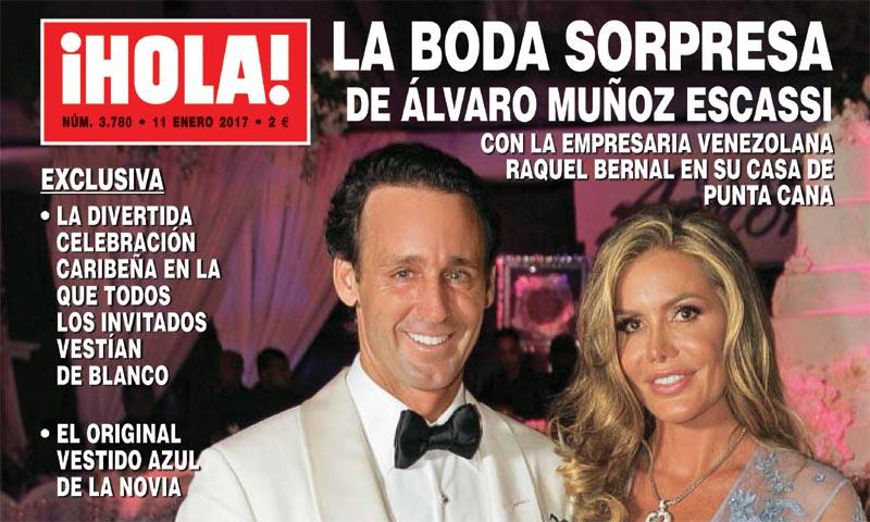 Exclusiva en ¡HOLA!, la boda sorpresa de Álvaro Muñoz Escassi con la empresaria venezolana Raquel Bernal: 'Estoy feliz y queremos tener hijos'