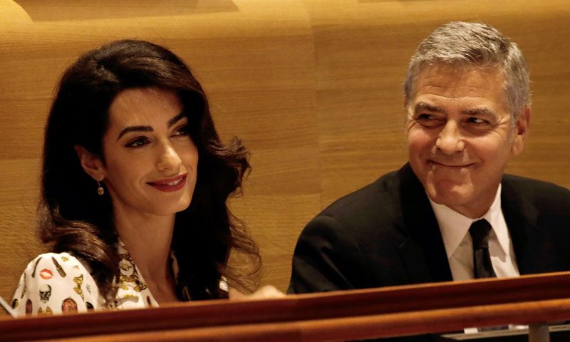 ¿Esperan gemelos George Clooney y Amal?