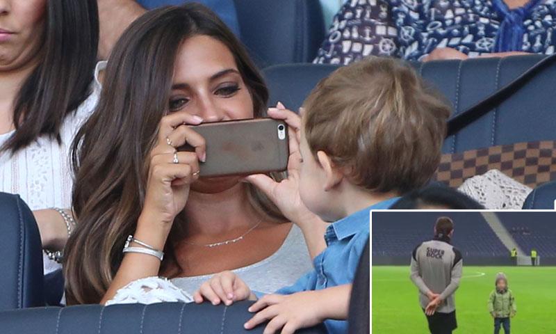 El pequeño Martín, ¿tras los pasos de su padre Iker Casillas?