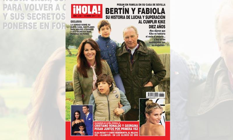 Exclusiva en ¡HOLA!, Bertín y Fabiola, su historia de lucha y superación al cumplir su hijo Kike diez años