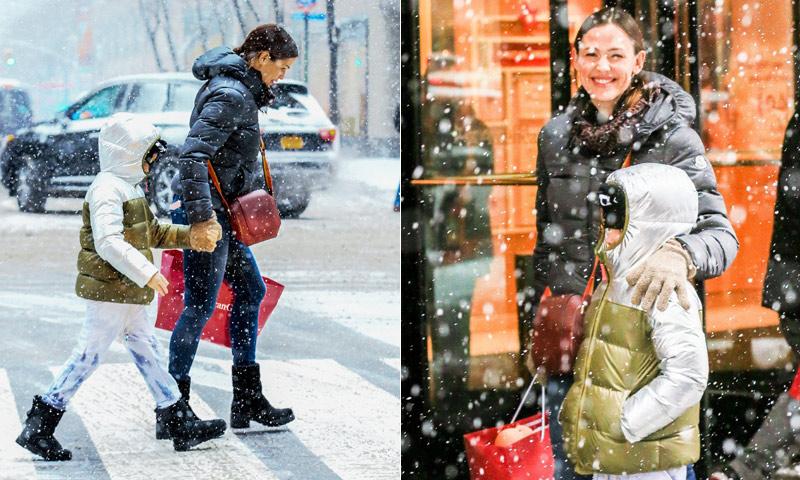 Un invierno de película para Jennifer Garner y su hija en Nueva York