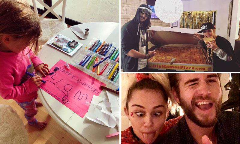 Un 'fiestón' con pizzas gigantes, Elsa Pataky vestida de rapera... así celebraron los Hemsworth el cumpleaños de Liam