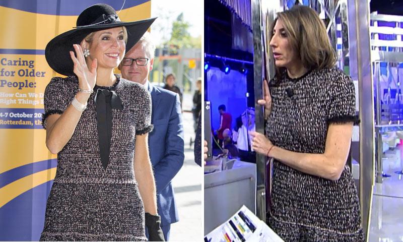¿Inspiración 'real'? Paz Padilla coincide al elegir vestido con... ¡la reina Máxima de Holanda!