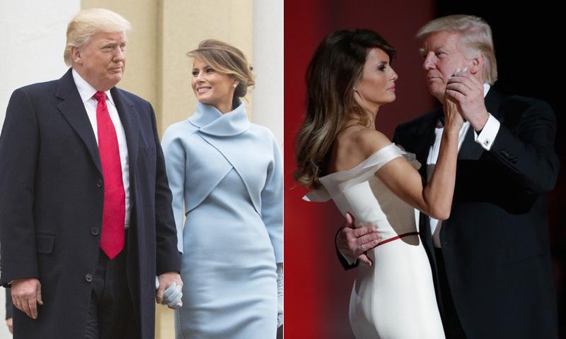 Melania Trump, emulando a Jackie Kennedy y elegancia contemporánea para la noche